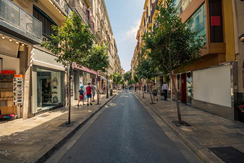 Calles de Palma de Mallorca fotografía de archivo libre de regalías