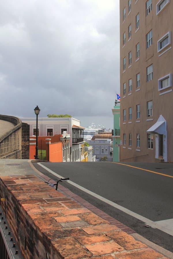 Calles de San Juan viejo fotos de archivo