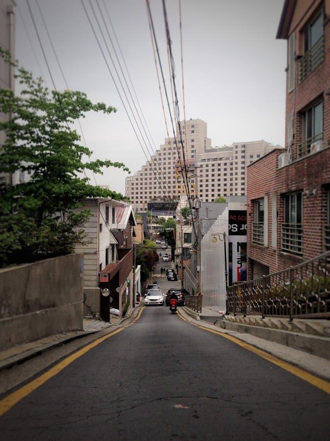 Calles de Seul fotografía de archivo
