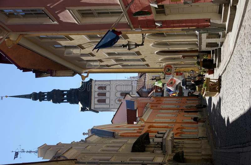 Calles de Tallinn fotografía de archivo