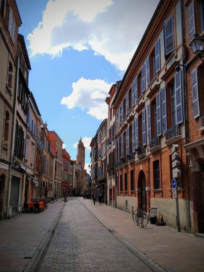 Calles de Toulouse, Francia imagen de archivo