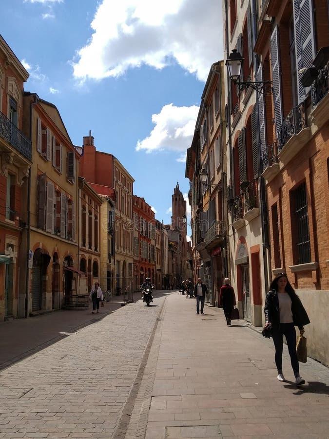 Calles de Toulouse, Francia imagen de archivo libre de regalías