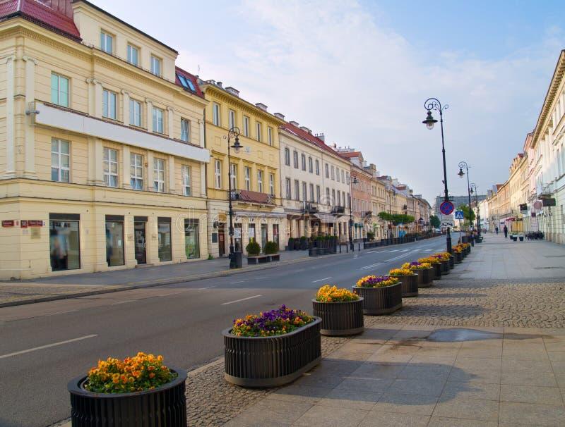 Calles de Varsovia, Polonia imágenes de archivo libres de regalías