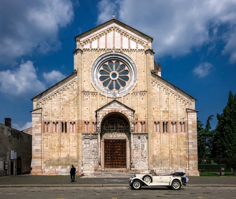 Calles de Verona Italia fotografía de archivo libre de regalías