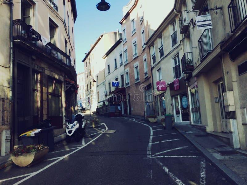 Calles de Vienne Francia foto de archivo