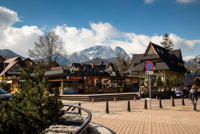 Calles de Zakopane fotos de archivo