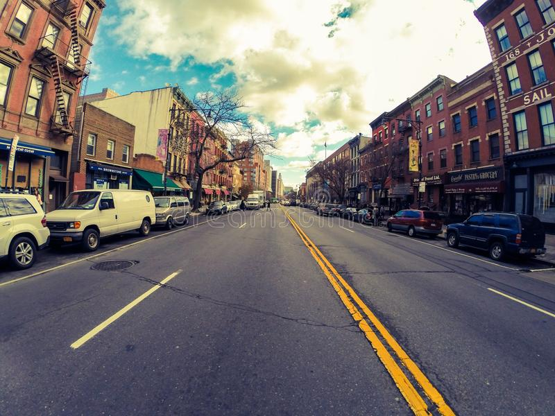 Calles del Queens imágenes de archivo libres de regalías