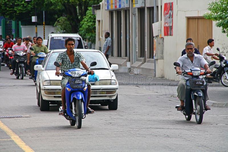 Calles del varón en Maldives foto de archivo libre de regalías