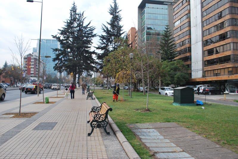 Calles en santiago chile foto de archivo imagen de for Calles de santiago de chile