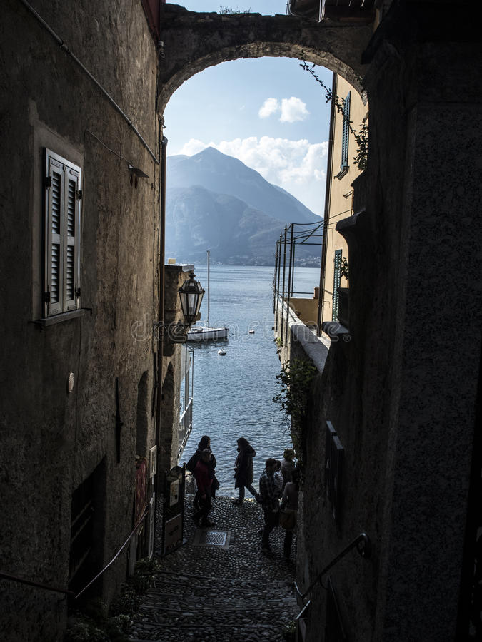 Calles italianas mágicas foto de archivo libre de regalías