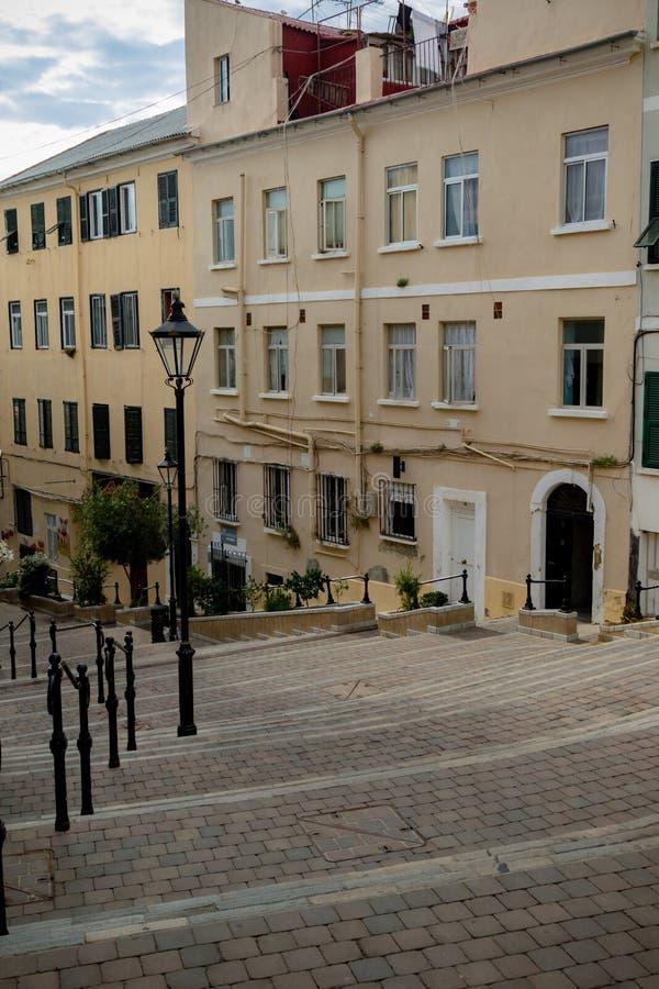 Calles traseras de Gibraltar foto de archivo