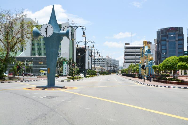 Calles vacías de Bandar Seri Begawan, Brunei foto de archivo libre de regalías
