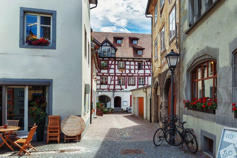 Calles viejas de ciudades europeas Constanza alemania imagen de archivo libre de regalías