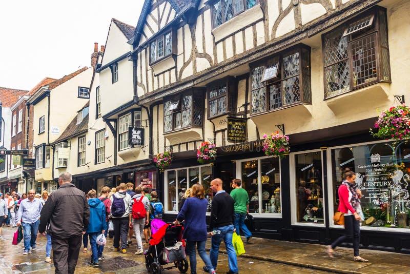 Calles viejas de York, Inglaterra, Reino Unido imagenes de archivo