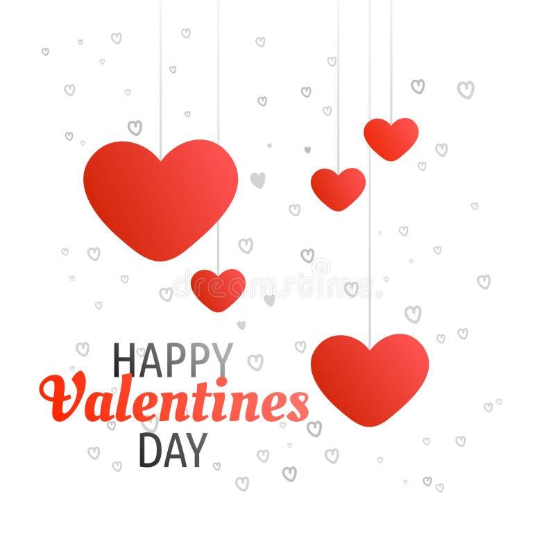 Calligrafia felice di saluto di giorno di biglietti di S. Valentino di concetto con cuore Pat fotografia stock
