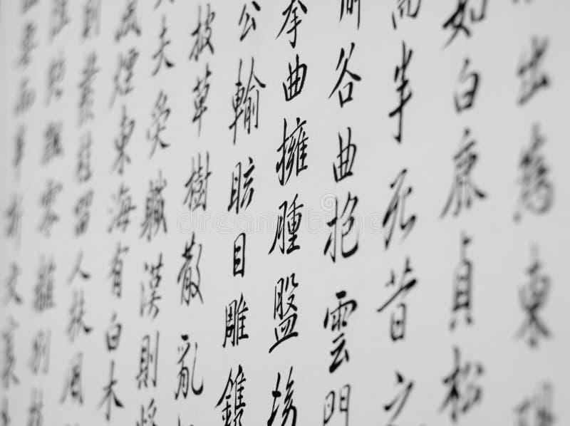 Calligrafia giapponese fotografie stock