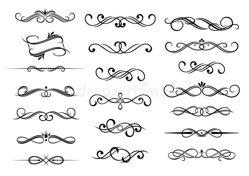 Calligraphic beståndsdeluppsättning för gräns royaltyfri illustrationer