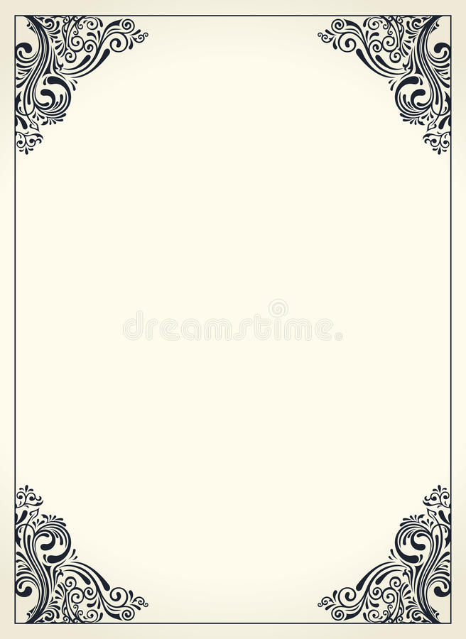 Card frame design selol ink card frame design calligraphic border m4hsunfo