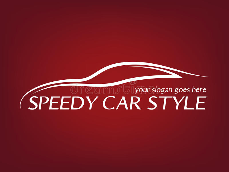 Calligraphic car logo royalty free illustration