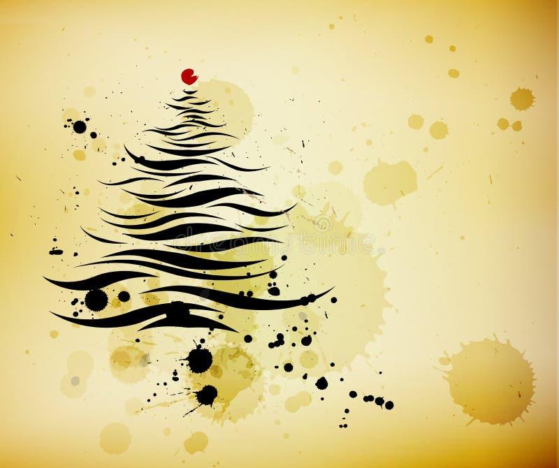 Calligraphic Christmas Tree Royalty Free Stock Photos