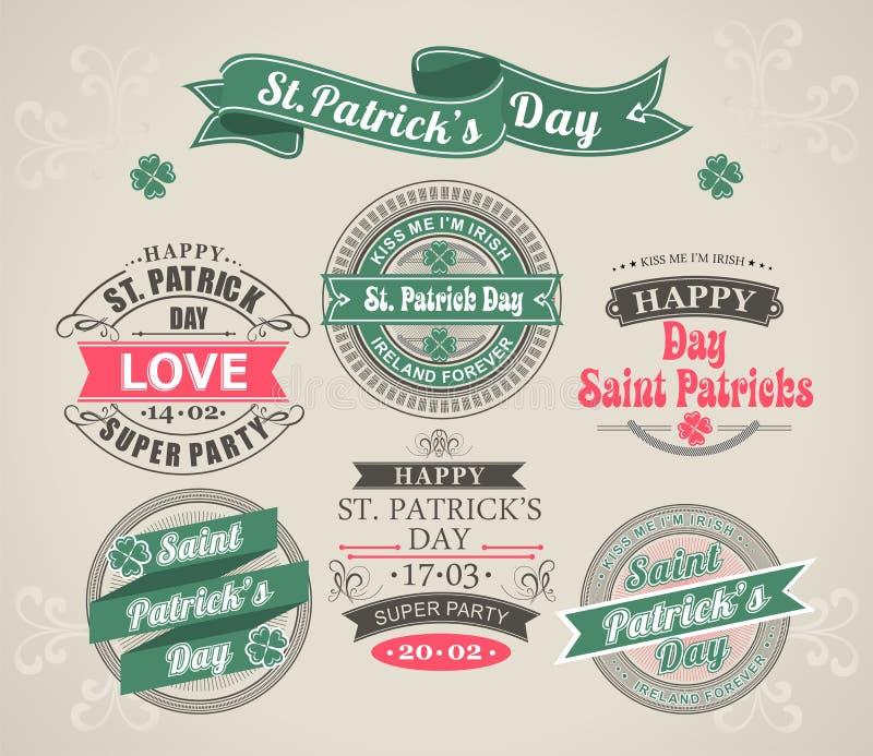 Calligraphic dag för designbeståndsdelSt. Patricks royaltyfri illustrationer