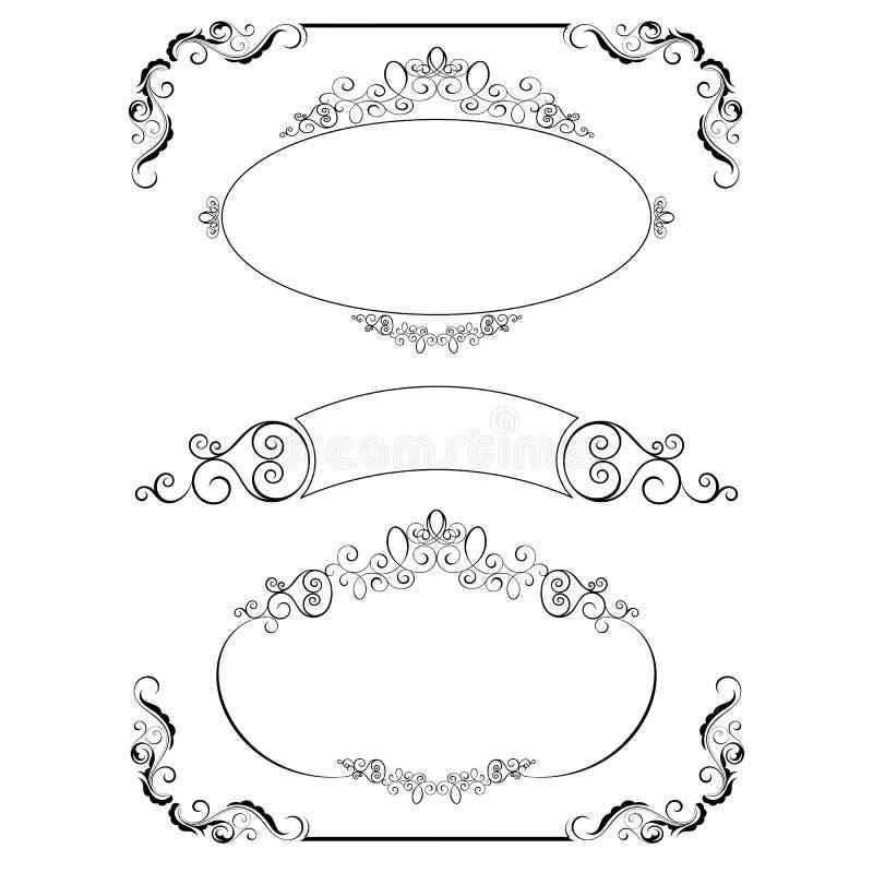 calligraphic dekorativa element royaltyfri illustrationer