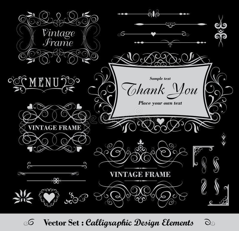 Calligraphic design royalty free illustration