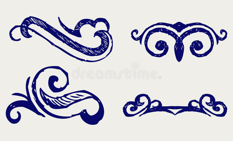 Download Calligraphic Design Element. Doodle Style Stock Vector - Image: 26595845