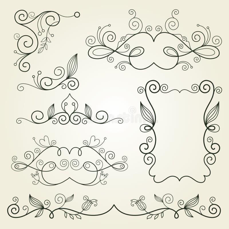 Download Calligraphic Design Elements Stock Vector - Image: 19184725