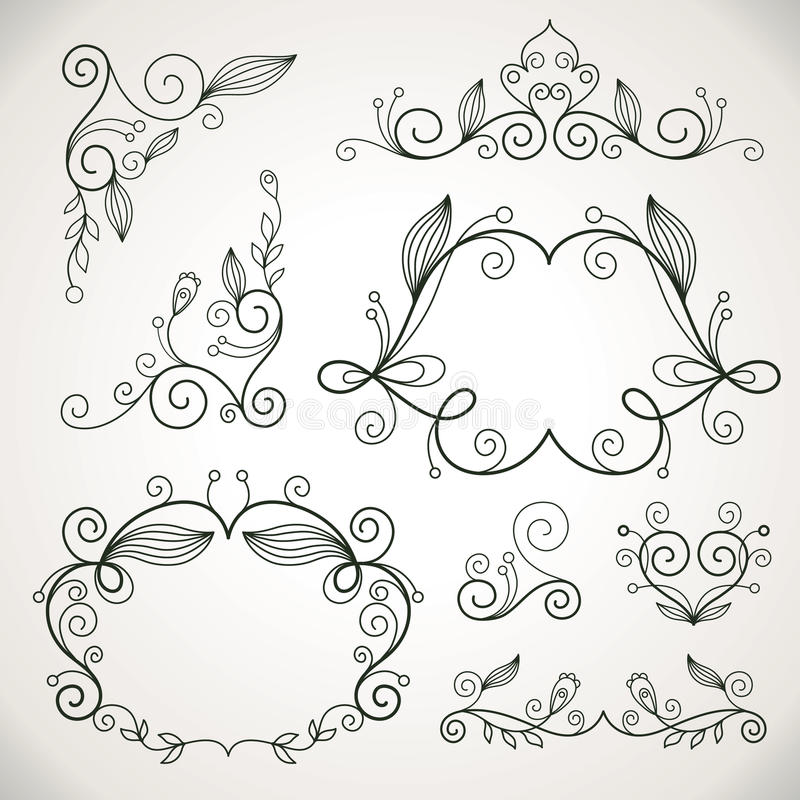 Download Calligraphic Design Elements Stock Vector - Image: 19184729