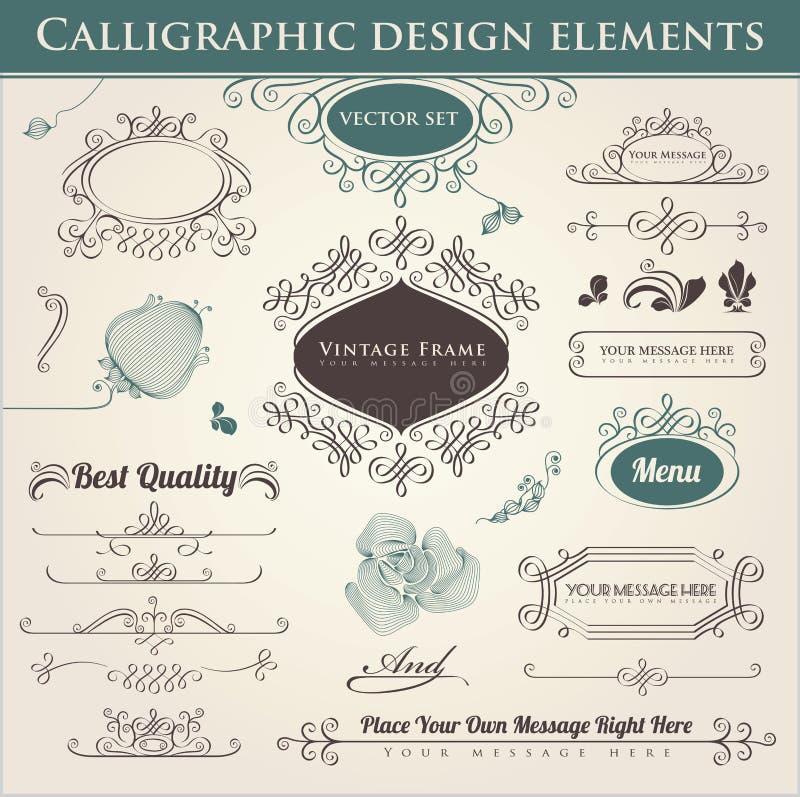 Download Calligraphic Design Elements Stock Illustration - Illustration of filigree, flower: 24219406
