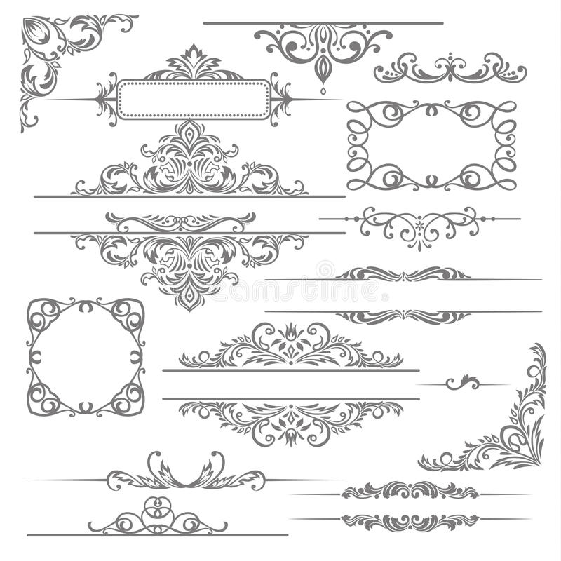 Free Calligraphic Design Elements Royalty Free Stock Images - 34643309