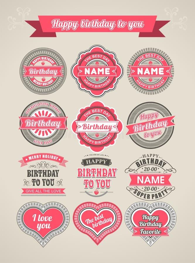 Calligraphic Design Elements birthday royalty free illustration