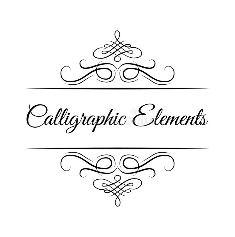 Calligraphic design elements . Decorative swirls or scrolls, vintage frames , flourishes. Vector. vector illustration