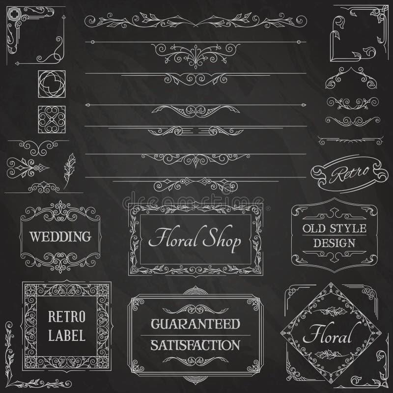 Calligraphic design Elements2 för tappning royaltyfri illustrationer