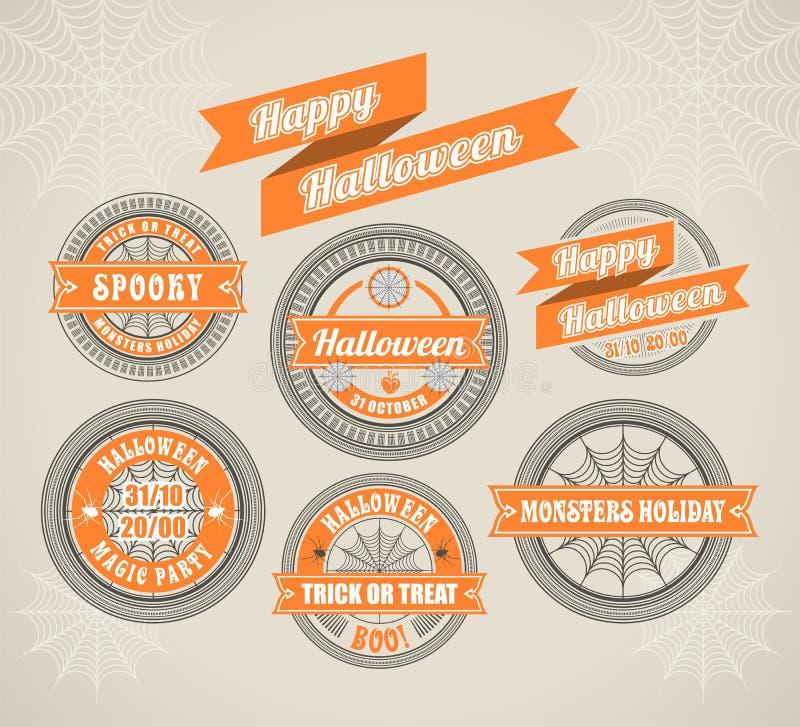 Calligraphic Design Elements Halloween stock illustration