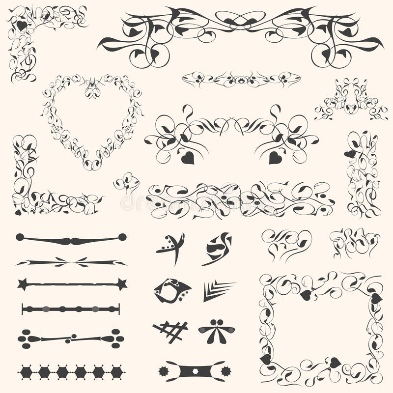 Calligraphic Design Elements Page Decoration Stock Vector ...