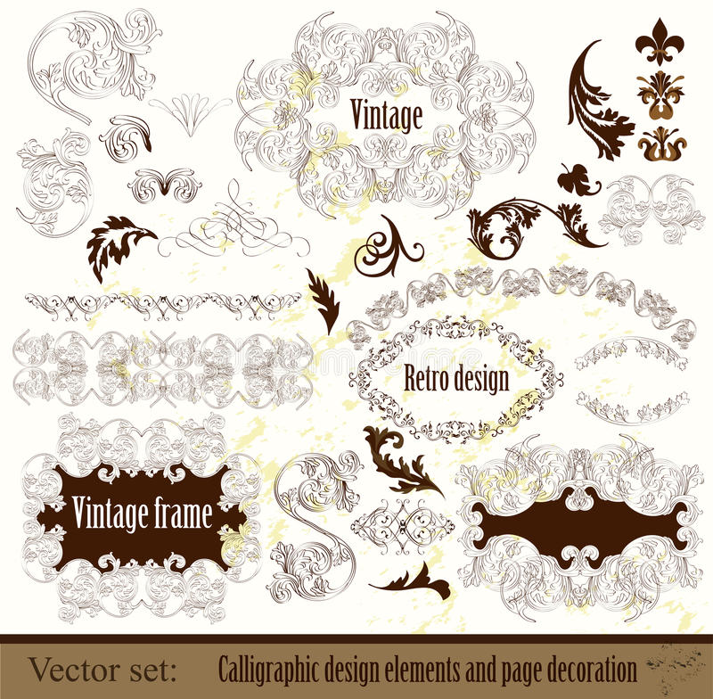 Download Calligraphic Design Elements And Page Decoration Royalty Free Stock Images - Image: 27235489