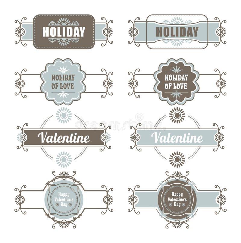 Calligraphic Design Elements Valentines Day royalty free illustration