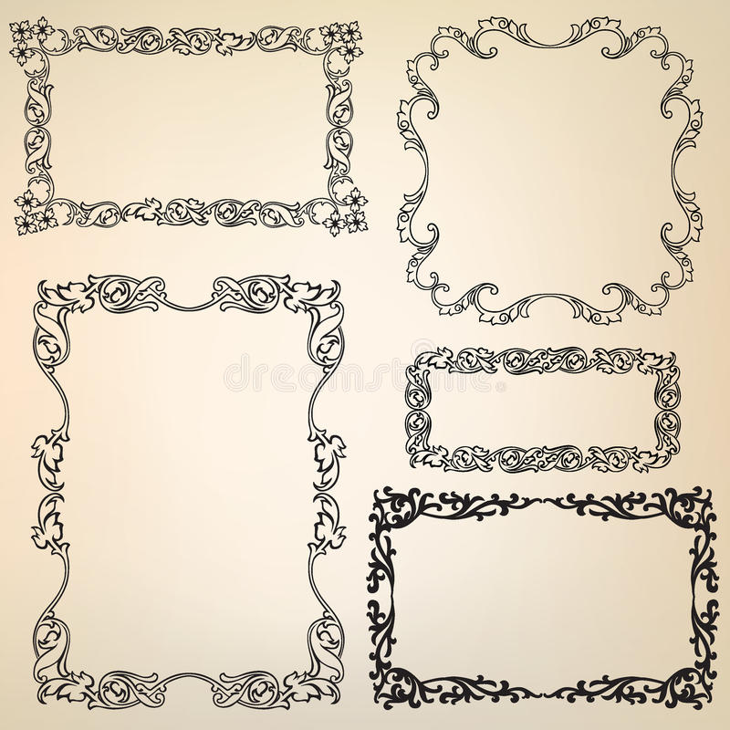 victorian frame design. Download Calligraphic Floral Retro Victorian Frame Stock Vector - Illustration Of Menu, Nostalgia: 27641908 Design