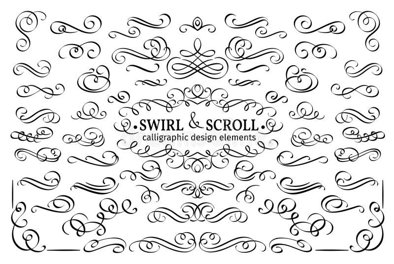 Calligraphic and page decoration design elements. vector illustration