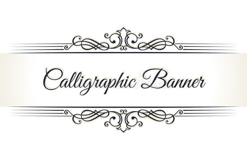 Calligraphic restaurangmeny Mall för bok för tappningprydnadvektor Retro gräns för hälsningkort, bröllopinbjudningar vektor illustrationer