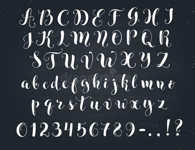 Download Calligraphic Script Letters Stock Vector