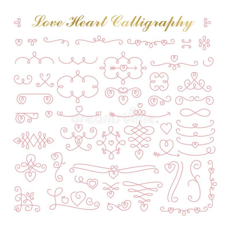 calligraphic sida för garneringdesignelement royaltyfri illustrationer
