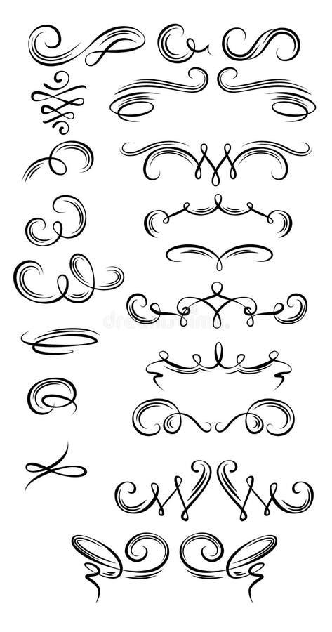 Download Calligraphic Strokes Stock Photo - Image: 32371910