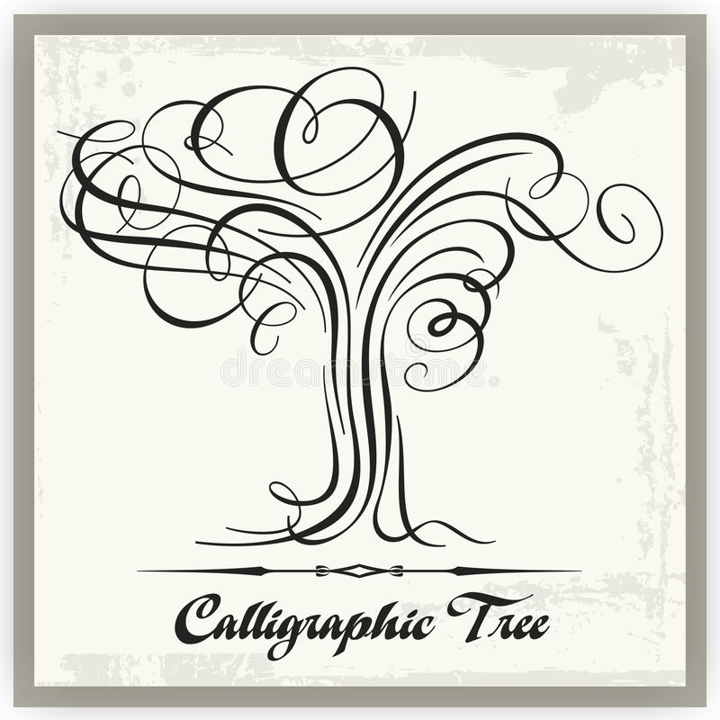 Download Calligraphic Tree stock vector. Illustration of illustration - 19526780