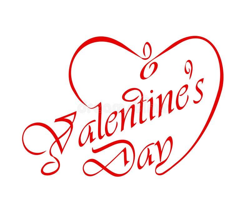 Calligraphic Valentine's headline. royalty free illustration