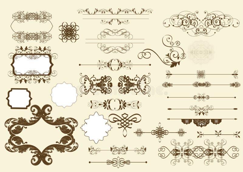 Download Calligraphic Vector Design Elements Stock Vector - Illustration: 26094298