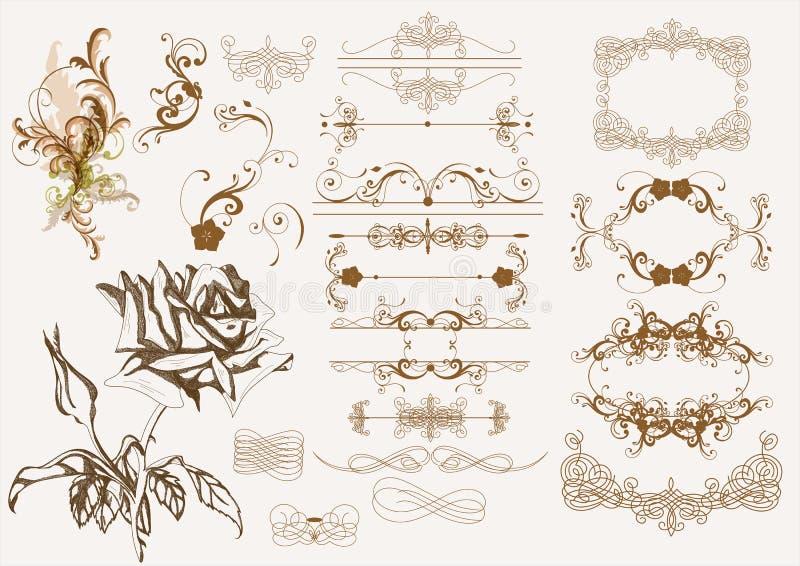 Download Calligraphic Vintage Design Elements Stock Vector - Image: 25726832