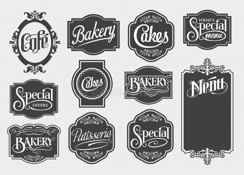 Calligraphic vintage signs. Calligraphic vintage sign design. Vector elements